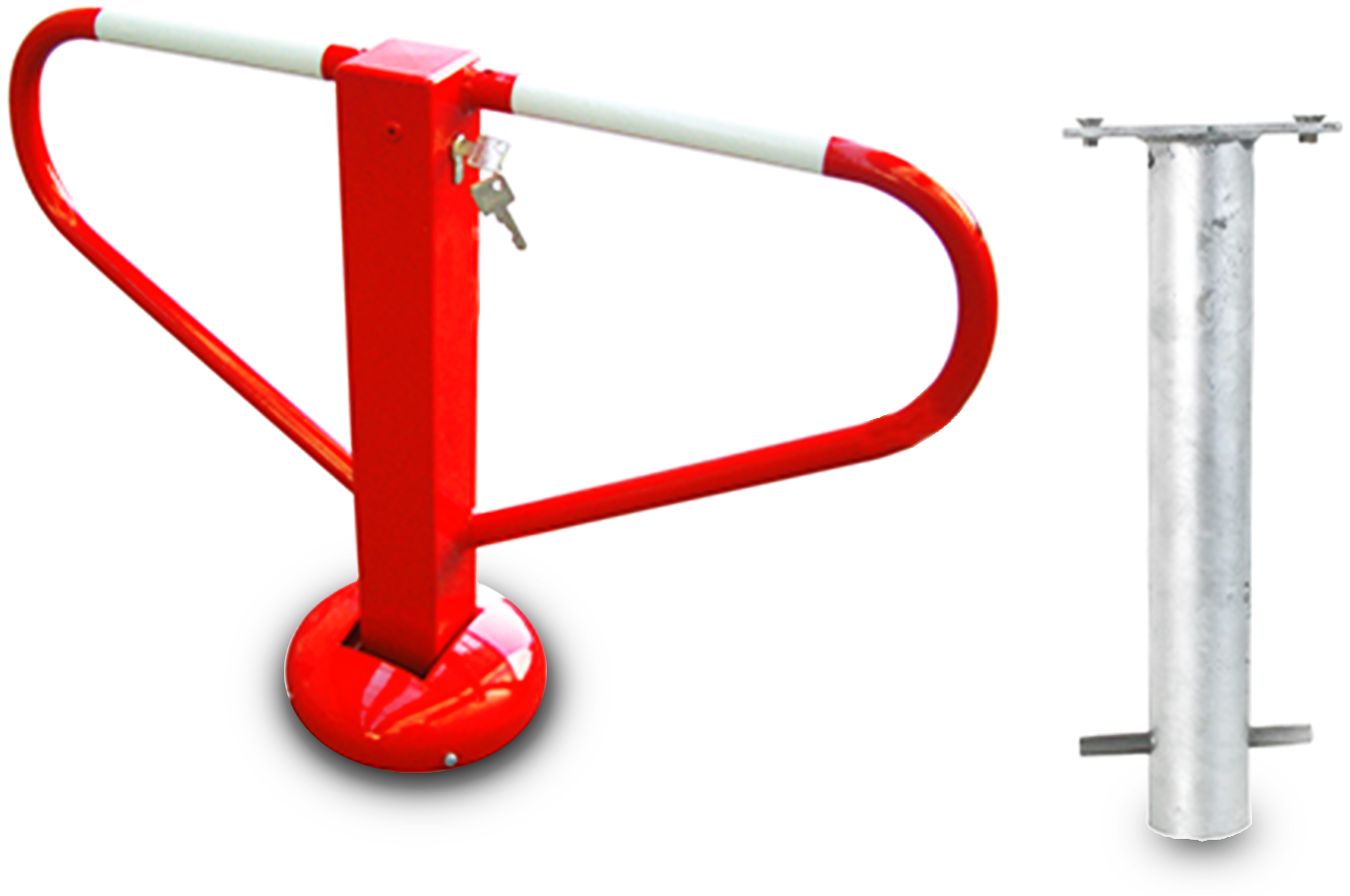Parkeerbeugel neerklapbaar met cylinderslot,