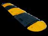 Verkeersdrempel eindstuk geel 50mm - 500 x 250 x 50mm