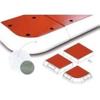 Verkeersheuvel Consul 50 - hoeksegment rood/wit -