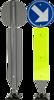 Verend verkeersbord Kickback, diam. 60 x 6 mm, H 147 cm-