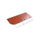 Verkeersheuvel Consul 80 - hoeksegment rood/wit -