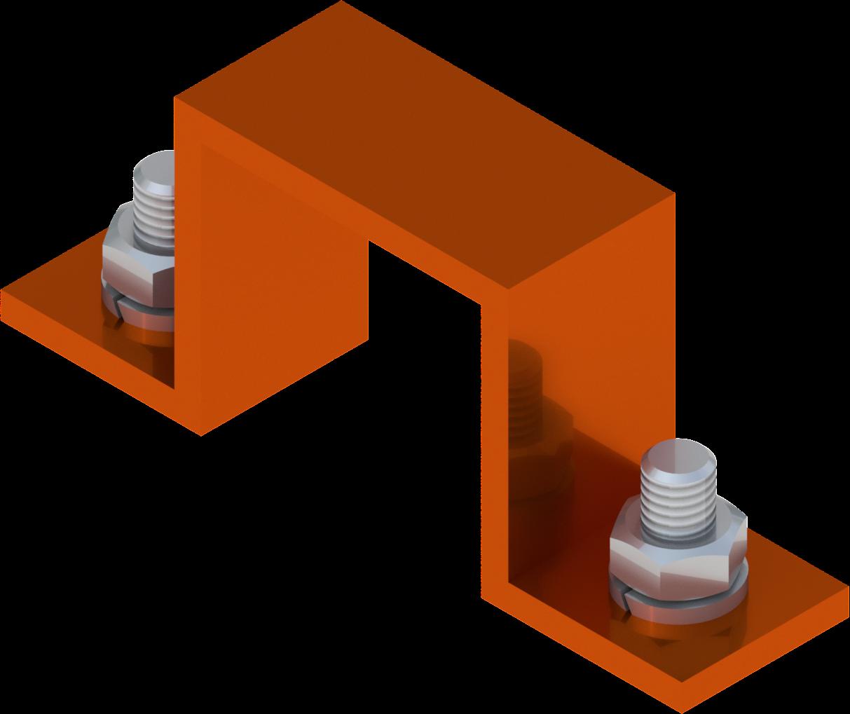 Beugel voor borden SB 250 40 x 40 mm, aluminium, oranje