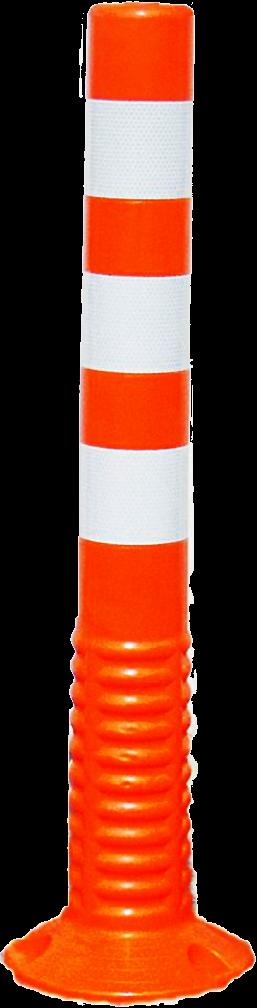 J-Flex , verende paal, oranje, H 75cm, diam 8cm,