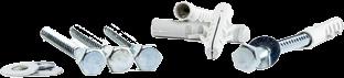 Set bevestigingsmateriaal voor vaste voetplaat