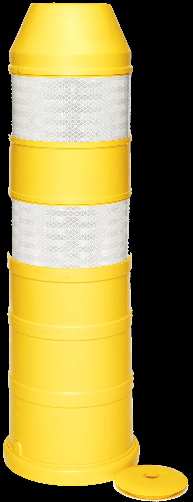 Plooibaken, diam. 220mm, H 750mm geel HI