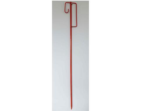 Piket Ø 14 mm voor bevestiging veiligheidsnet - H 1,19m