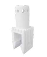 Adapterstuk voor montage lampen op afzethek wit Euro1 type