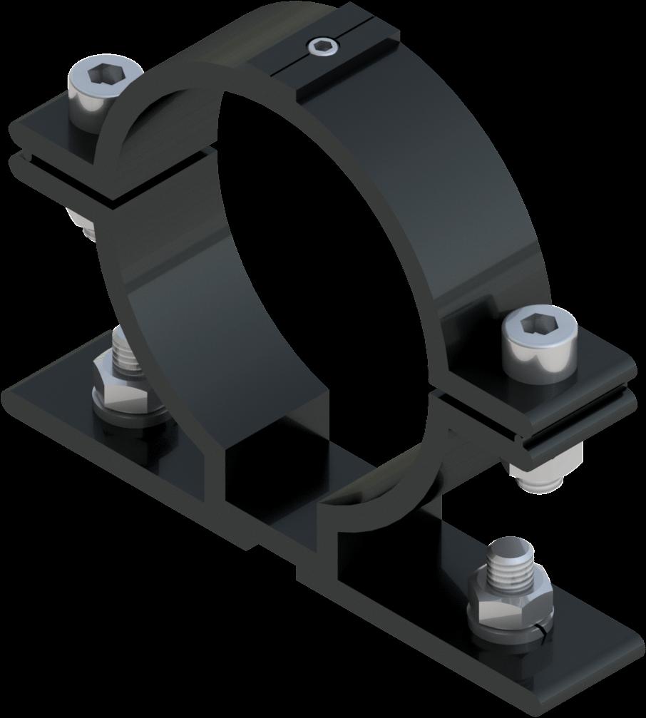 Beugel SB 250 diameter 76 mm -  grijs RAL 7043