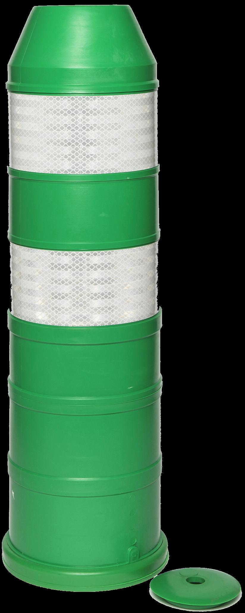 Plooibaken, diam. 220mm, H 750mm groen HI