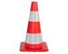 Verkeerskegel soepele PVC oranje met witte banden, H 50 cm