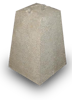 Betonsokkel hoogte 45 cm voor paal