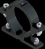 Beugel SB 250 diameter 89 mm - grijs RAL 7043