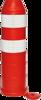 Plooibaken, diam. 220mm, H 750mm rood HI