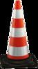 Verkeerskegel oranje rubber, H 50 cm