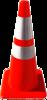 Verkeerskegel soepele PVC oranje met witte banden, H 75 cm