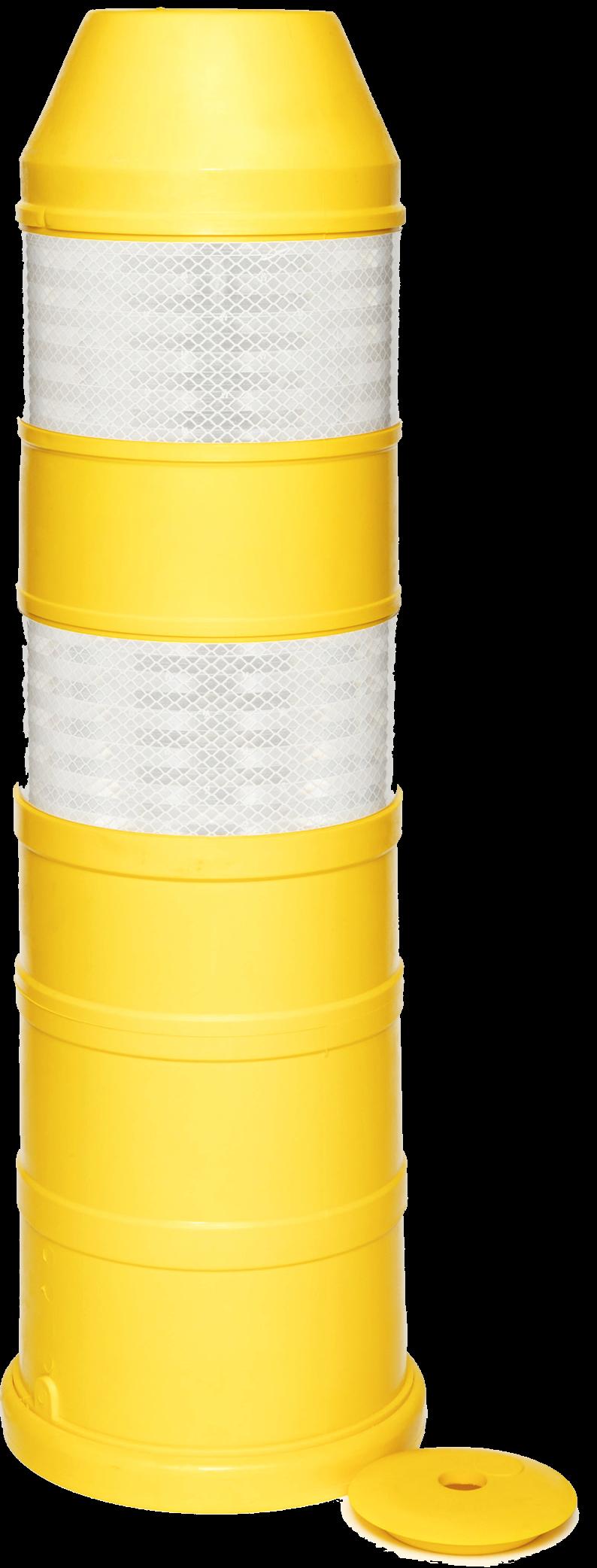Plooibaken, diam. 220mm, H 750mm geel DG