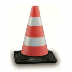 Verkeerskegel oranje rubber, H 30 cm