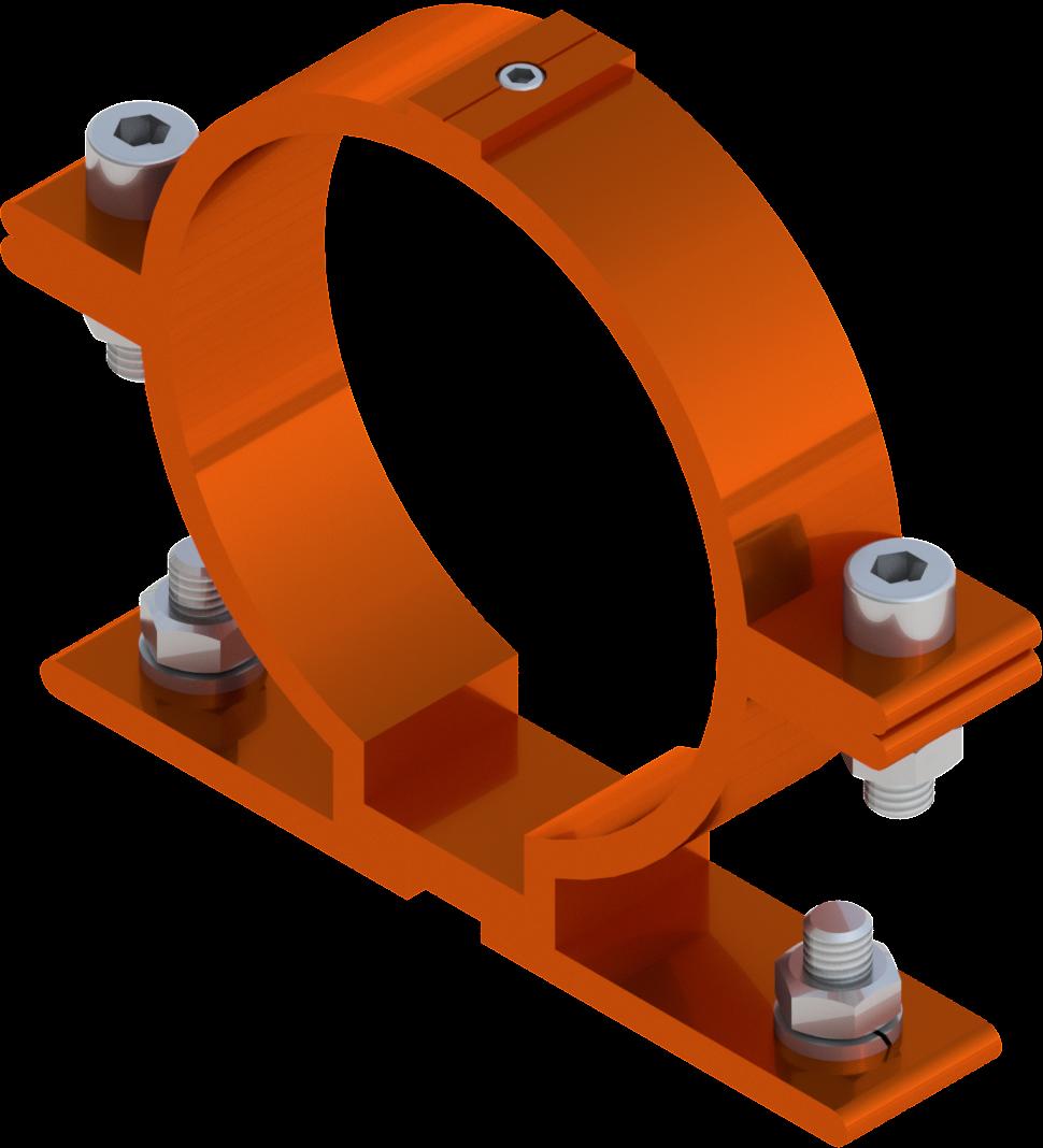 Beugel SB 250 diameter 89 mm - oranje RAL 2009