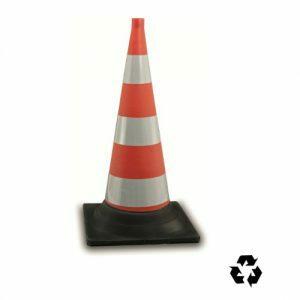 Verkeerskegel oranje rubber, H 75 cm