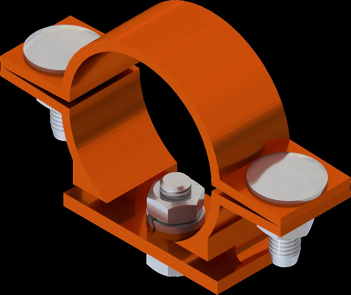 Beugel SB 250 diameter 51 mm voor type  x - oranje RAL 2009