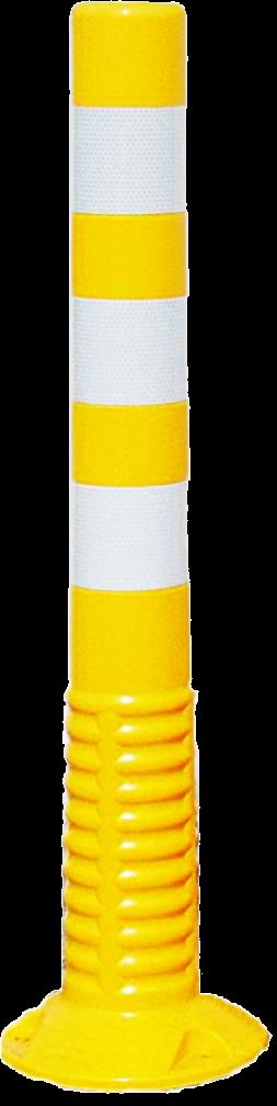 J-Flex , verende paal, geel, H 75cm, diam 8cm,