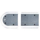 Verkeersheuvel Separ 50 - kopstuk grijs/wit -