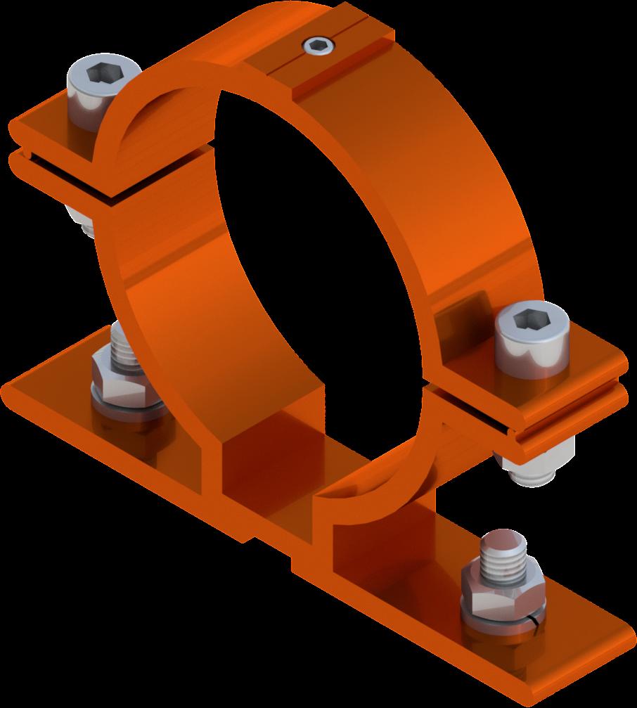 Beugel SB 250 diameter 76 mm -  oranje RAL 2009