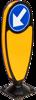 Night Owl paal, voorzien van D1 dubbelzijdig,