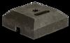 Baakvoet rubber 400 x 400 - gat 40 mm