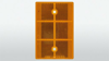 Reflector oranje   70 x 110 mm