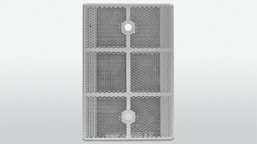 Reflector wit         80 x 120 mm