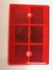 Reflector rood      80 x 120 mm