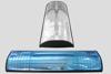 Wildreflector blauw, afgevlakte halve cirkel 100/250 mm