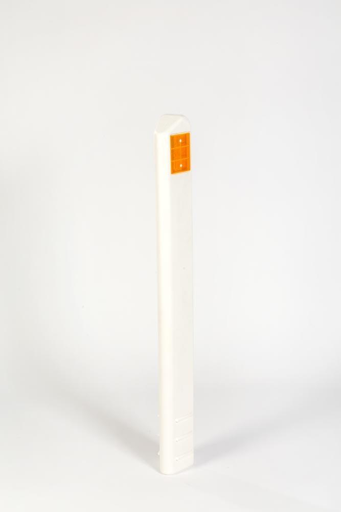 Katafootpaal driehoekig met witte en oranje reflector