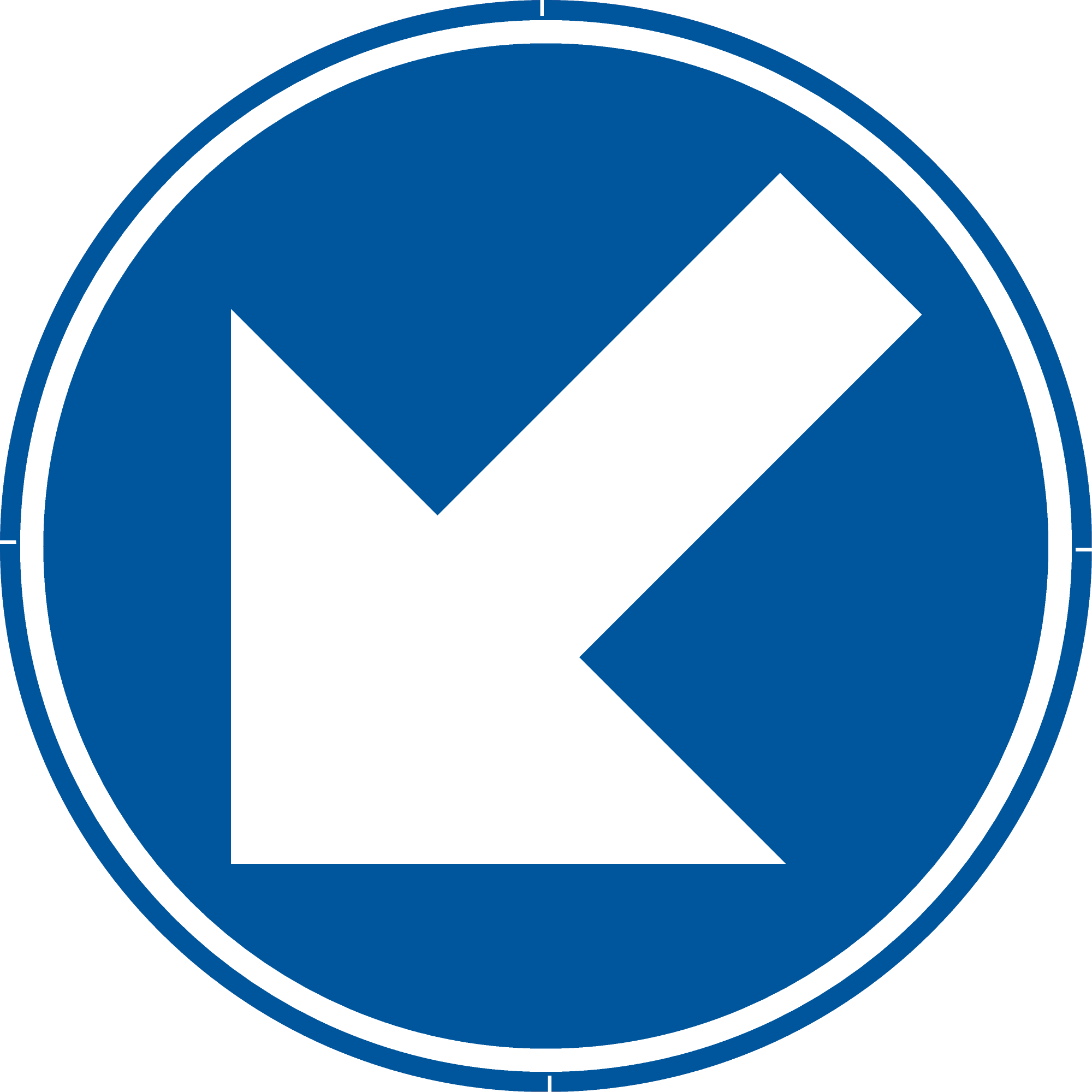 Signface - D1c - klasse  I - Ø 400 mm