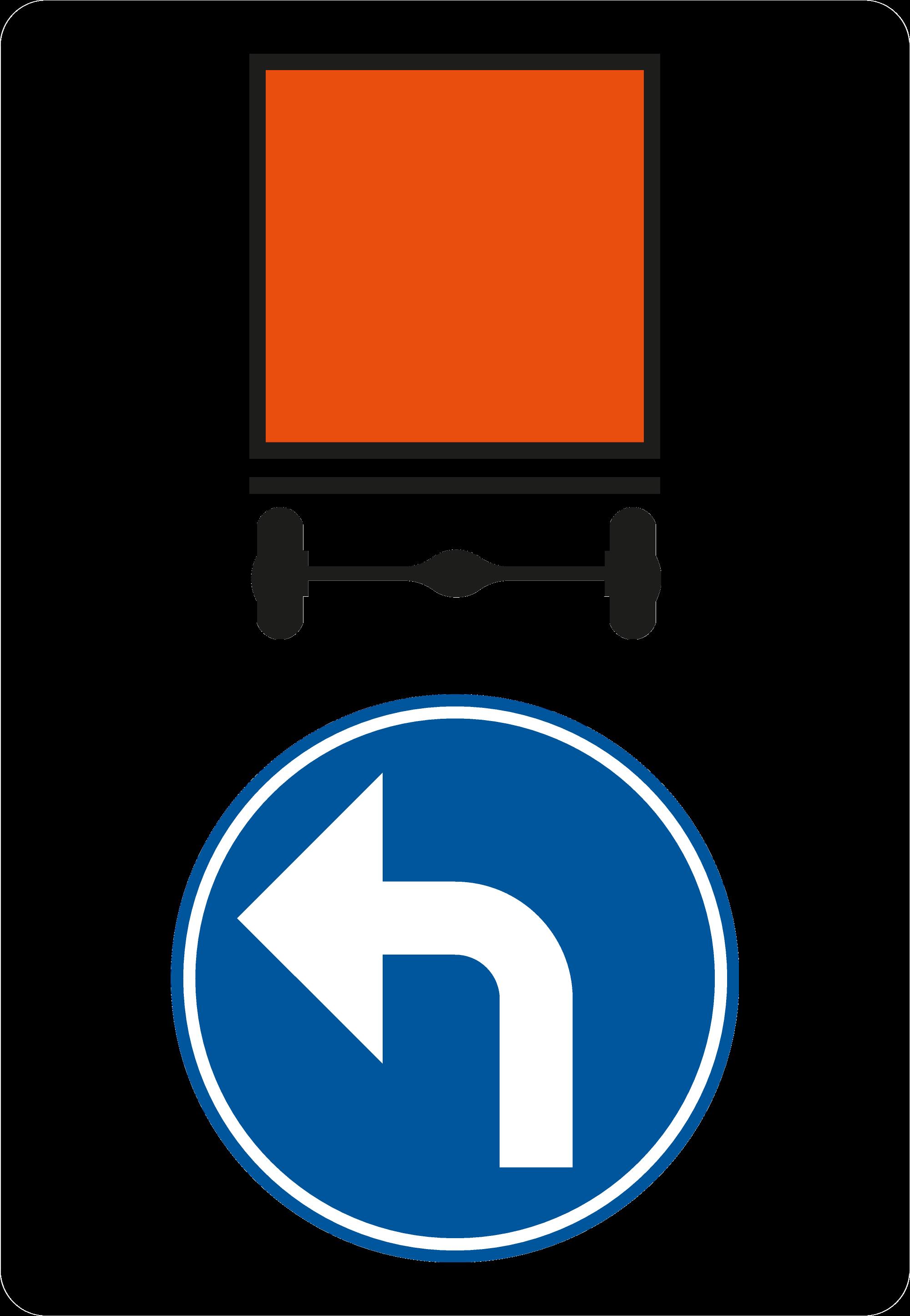 Signface - D4 links - klasse  II - 1250/1750 mm