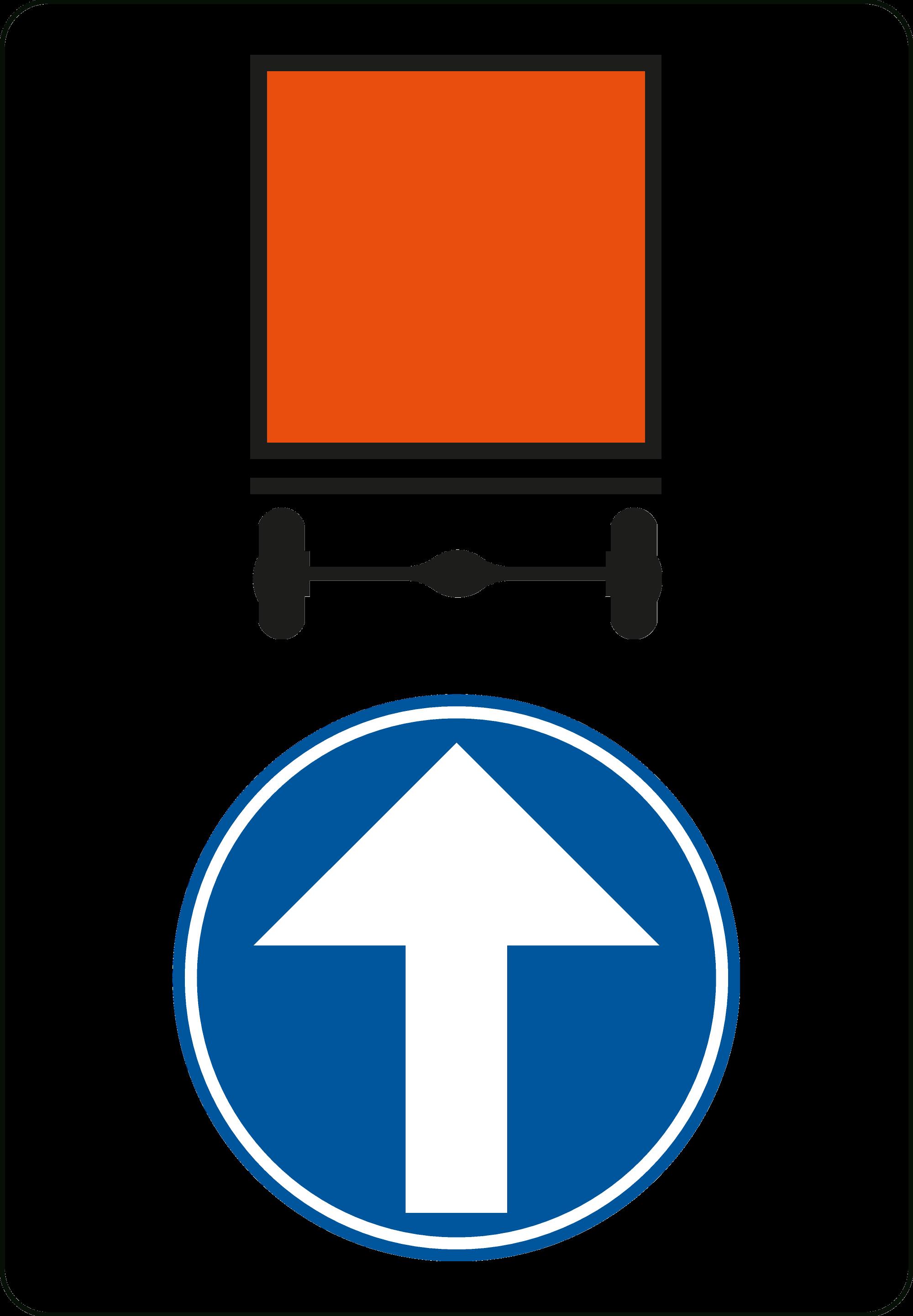 Signface - D4 rechtdoor - klasse  I - 600/900 mm