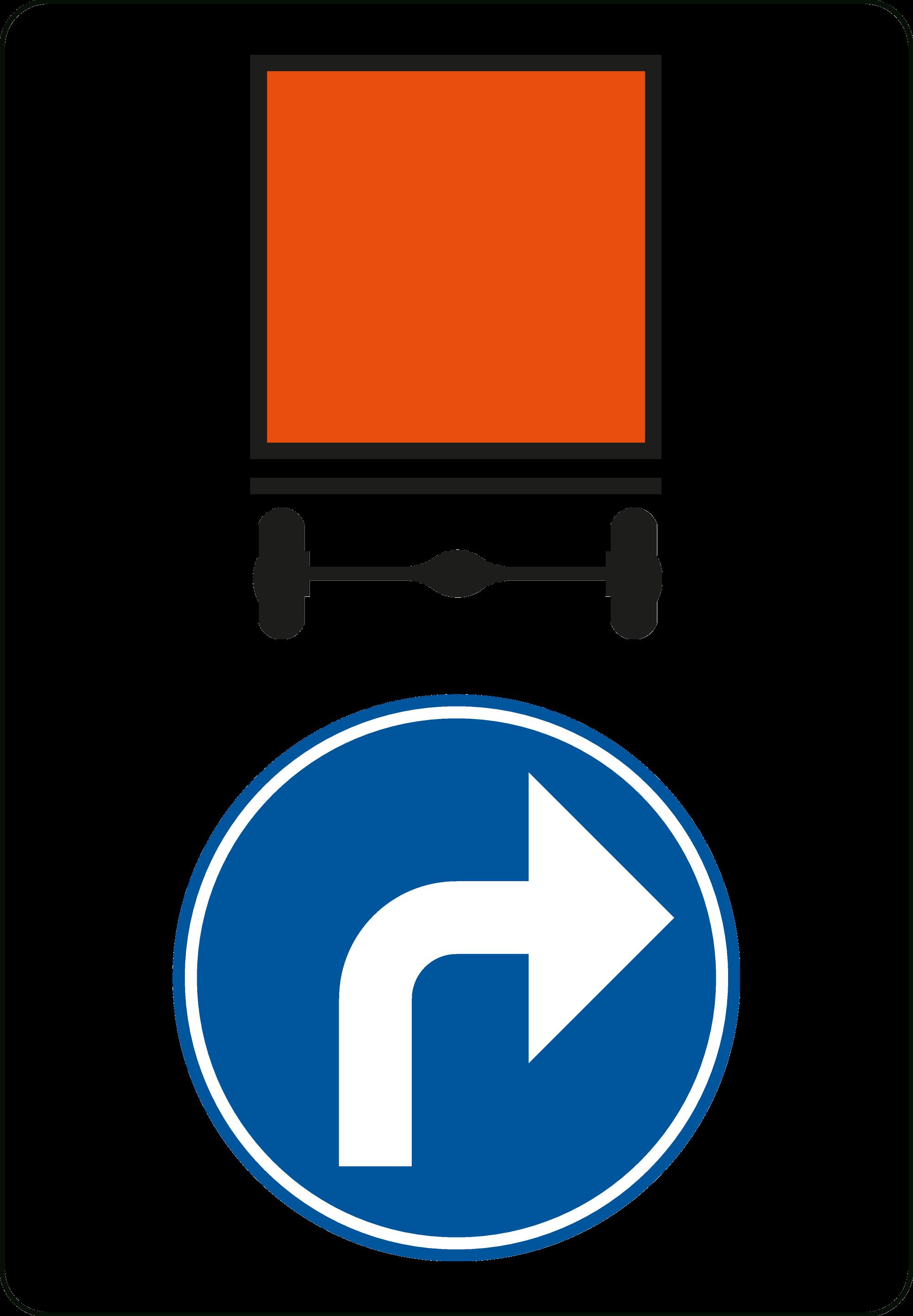 Signface - D4 rechts - klasse  I - 600/900 mm