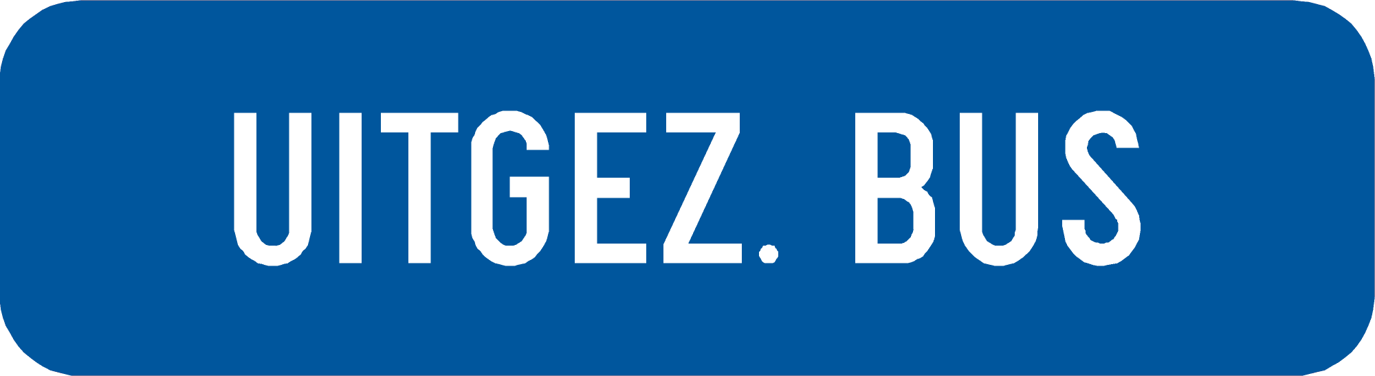 Signface - GIVub - klasse  I - 450/200 mm