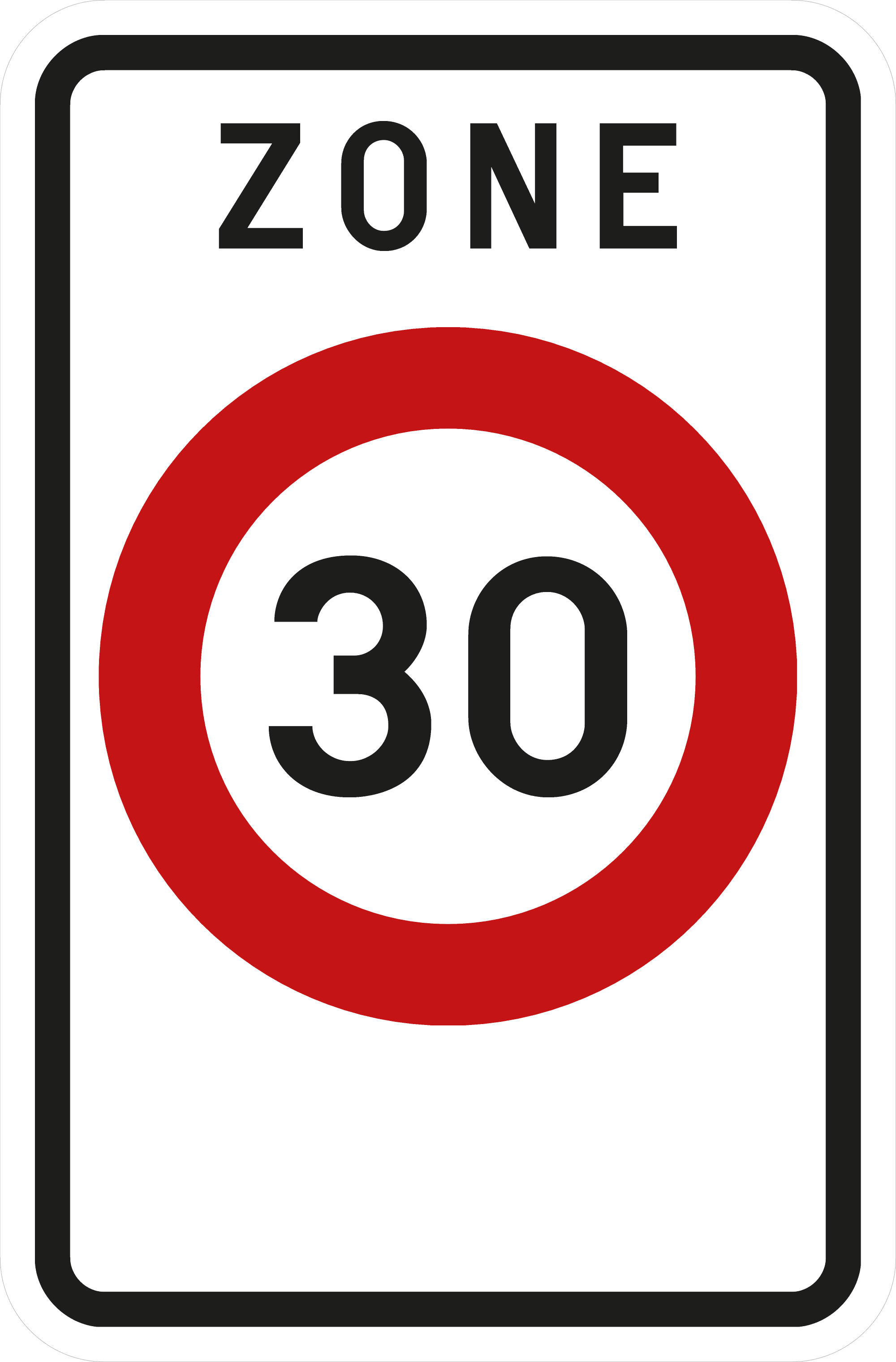 Signface - F4a - klasse  I - 400/600 mm